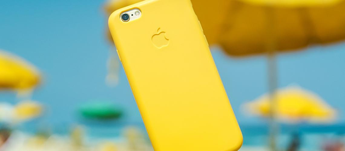 iphone amarelo no ar